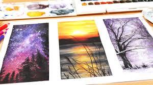 3 Easy Watercolor Paintings For Beginners