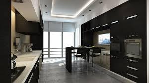 Black Kitchen Wallpaper