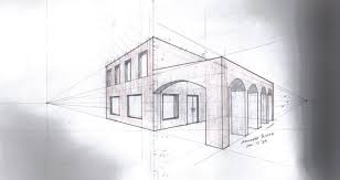 perspective drawings of buildings. Perspective Drawings Of Buildings And Two Point Drawing :