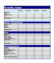 Weekly Budget Forms Budget Forms 9 Free Pdf Documents Download Free Premium Templates