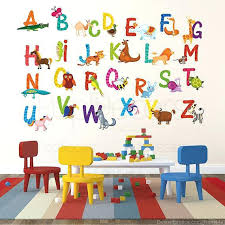 abc wall decals nursery alphabet stickers children playroom sticker animal alphabets a z kids letters large
