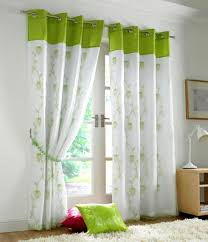 curtains lime green white tahiti lime