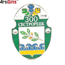 Metal Crest Design Hot Item High Quality Customer Design Metal Lapel Pin With Numbers