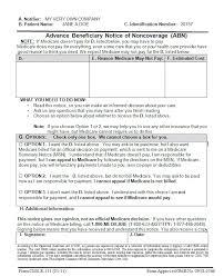 Form Advance Beneficiary Notice Of Noncoverage Abn Futura Help