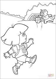 Dora Is Een Voetbalster Kleurplaat Gratis Kleurplaten Printen