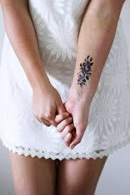 Piccolo Rosa Tatuaggio Temporaneo Tatuaggio Temporaneo Etsy