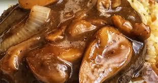 air fryer salisbury steak with mushroom