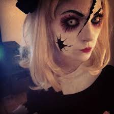 old creepy broken dolls get a creepy look with doll makeup