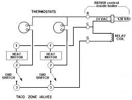 boiler control valve issue doityourself com community forums 24 vac hot is wired to one terminal of each thermostat