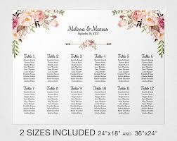 Rehearsal Dinner Seating Chart Etiquette Pink Floral Wedding Seating Chart Template Floral Wedding