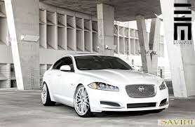 White-Jaguar-XF-Savini-Wheels-BM4-Machined-Silver-  ,