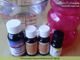 homemade natural antibacterial spray cleaner for cleaning and personal use
