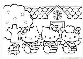 Small Picture HelloKitty Coloring Page Free Hello Kitty Coloring Pages