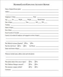 Sample Incident Report Template Business