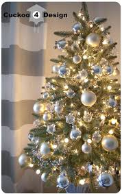Silver Decorated Christmas Tree Ideas Silver And White Christmas Tree Red  And Silver Christmas Tree Decorating