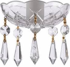 asfour crystal 30 lead crystal bobeche lamp chandelier parts with gold bowtie 1850330101