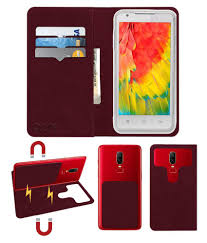 Lava Iris 503 Flip Cover by ACM - Red 2 ...