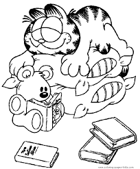 Small Picture Garfield color page Coloring pages for kids Cartoon characters