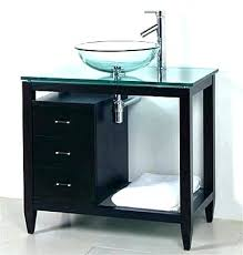 glass vanity top vessel sink combo vanities cabinet ideas base natural modern casual classic amazing