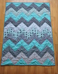 283 best Baby Quilt Patterns images on Pinterest | Quilt patterns ... & Baby Blue Chevron Quilt Tutorial Adamdwight.com