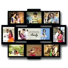 family collage personalised wooden multi photo rectangular frame large ideas for school