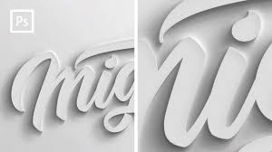 photo tutorials how to make 3d text