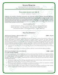 Resume Examples Teacher Classy Teacher Assistant Resume Sample Astralpad