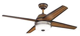 kichler lighting 310110mdw porters lake 54 inch wet location ceiling fan terranean walnut