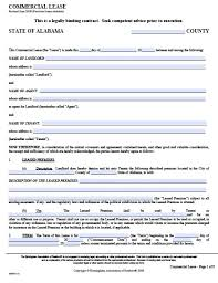 lease agreement sample free alabama commercial lease agreement pdf template