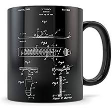 snowboarding gifts for men and women snowboarder coffee mug for teachers or riders best snowboarding themed gift idea cool snowboard invention patent