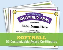 Funny Awards At Work Softball Certificates Award Templates And Coaching Forms
