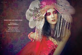 fashion editorial in beaux couture magazine makeup by christine watkins