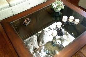 decorative table see through coffee table