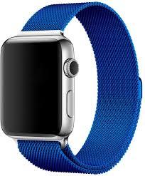 <b>Браслет Wolt для</b> Apple Watch 42/44 мм 25 см стальной blue ...