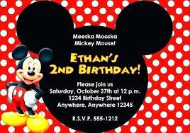 Mickey Mouse Invitation Template Simplish Info