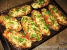 Фото рецепта баклажаны с мясным фаршем на