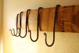 Wine Barrel Stave Coat Rack Make using pot rack hooks OR shower hooks French Oak Wine Stave 98