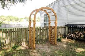 how to build a garden arbor arch with