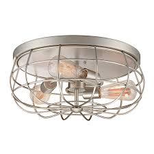 millennium lighting neo industrial 15 in w satin nickel standard flush mount light