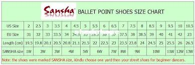 Sansha Dance Shoes Size Chart Sansha Dance Shoes Size Chart All About The Best Shoes