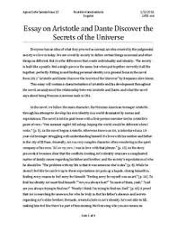 aristotle and dante discover the secrets of the universe essay  aristotle and dante discover the secrets of the universe essay