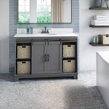 Gracie Oaks Trogdon Sliding Barn Door 49 Single Bathroom Vanity Set Reviews Wayfair
