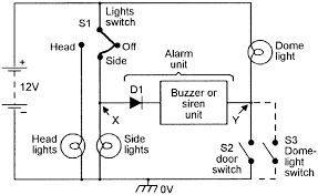 security electronics systems and circuits part 10 nuts volts basic type 2 lights are on alarm circuit