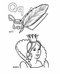 Small Picture Letter Q Queen Coloring Pages Coloring Coloring Pages
