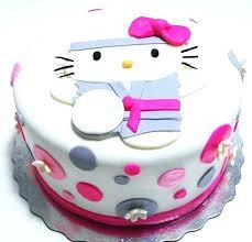Beautiful Girly Hello Kitty Birthday Cake Babyplanet