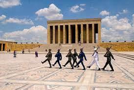 Turkey, Cappadocia, Ankara, Anitkabir, Changing of the guards at mausoleum  of kemal ataturk – Stockphoto