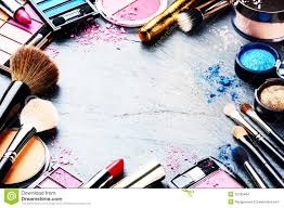 colorful frame with various makeup s