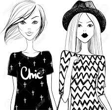Cute Fashion Girls Stylish Woman Vector Girls Young Girl