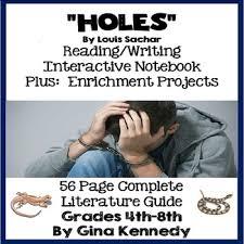 holes novel study enrichment project menu