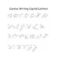alphabet capital letters cursive